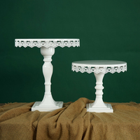 SWEETGO High feet cake stand for Cup European style cake tools for wedding party Bakeware tools Cake decorating stand lace edge