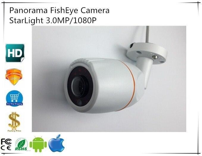 Panorama FishEye 3 0MP 1080P 2048 1536 1 7mm 3516C E IM291 StarLight IP Bullet Camera