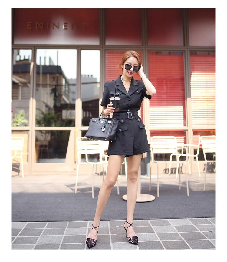 temperament Korean collar waist 18