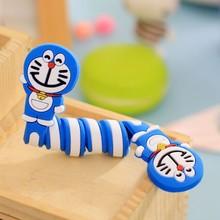 5pcs/lot Animals Silicone Cable Winder Clip Earphone Headphone Winder Earbud Cable Cord Wrap Organizer Holder for iPhone Samsung