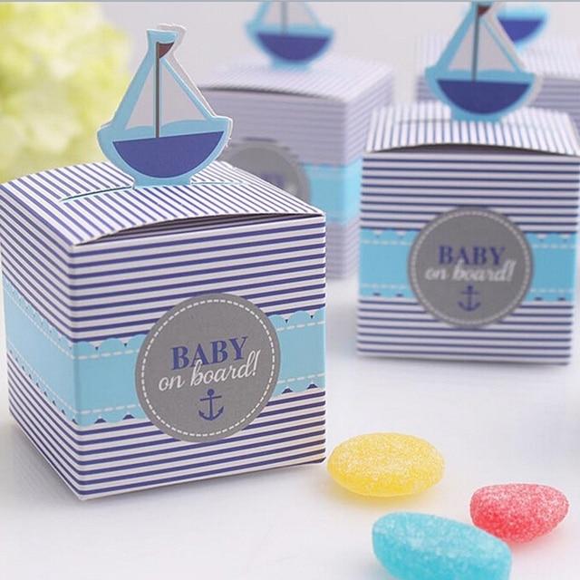 Cute Boat European Design Paper Favor Gift Boxes Wholesale Baby