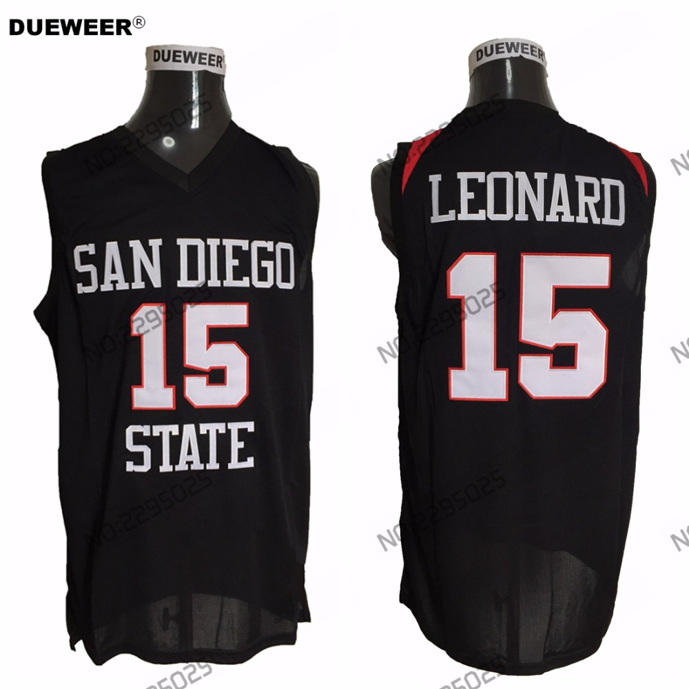 15f078676 DUEWEER Mens Retro Kawhi Leonard College Basketball Jersey San Diego State  Aztecs 15 Kawhi Leonard University Basket Shirt White-in Basketball Jerseys  from ...