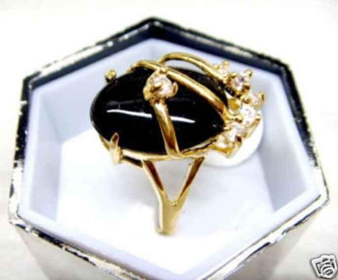 Beautiful & charmming สีดำ agates แหวนหยก (#7 8 9)