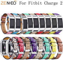 leather watch strap for fitbit charge 2 band Smart Fitness Watch Band Wrist Replacement bands