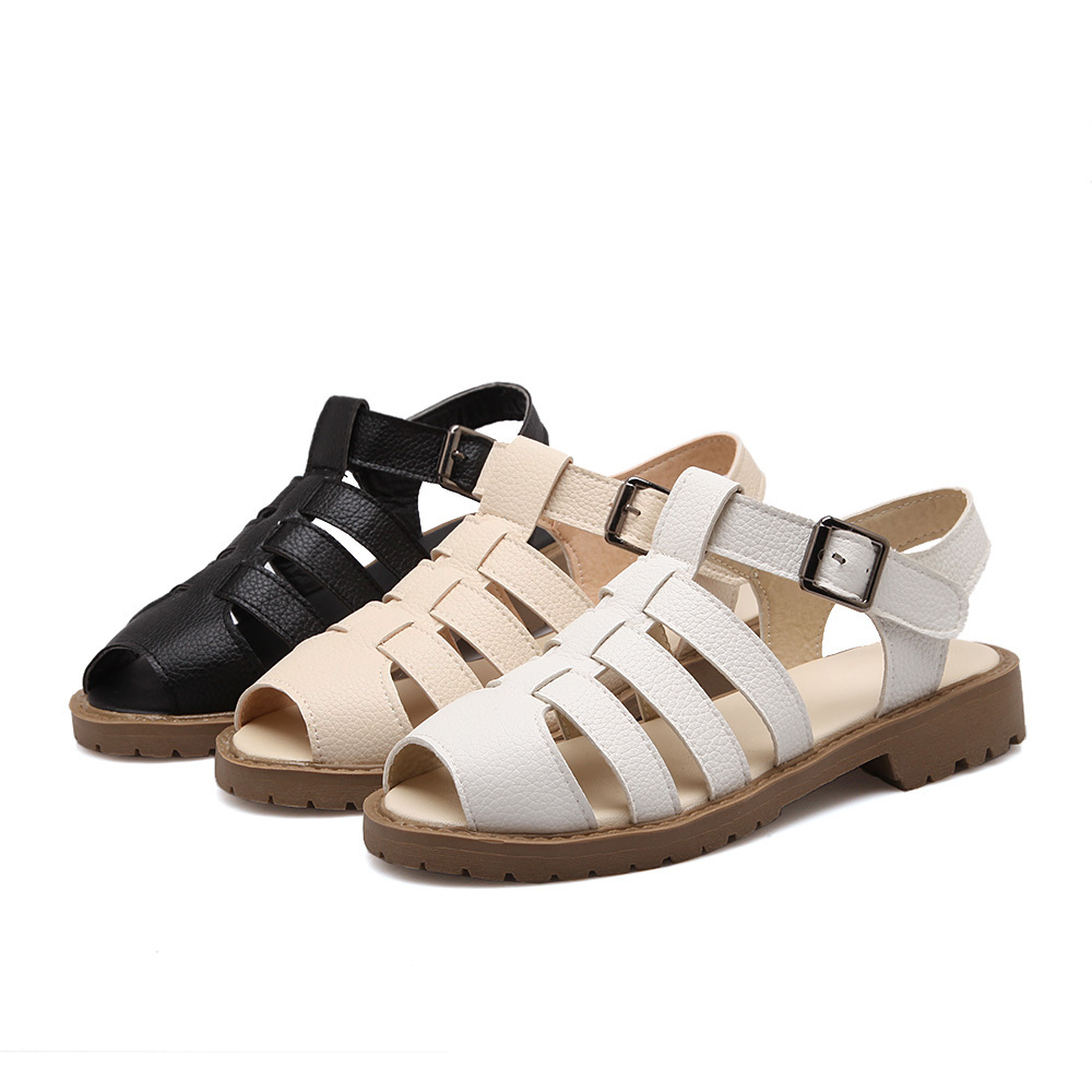 Sandals Women Ladies Shoes Plus Size 34-43 Woman Sapato Feminino Summer Style Causal Open Toe Flat shoes 199