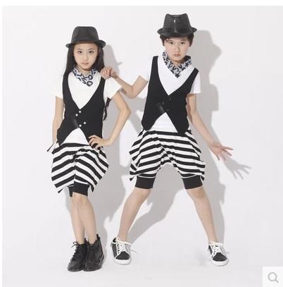 bērnu bērnu džeza deju tērpi zēns / meitene zirgu izjādes deju tērpi mūsdienu deju tērpi skatuves kostīms skatuves meitenes