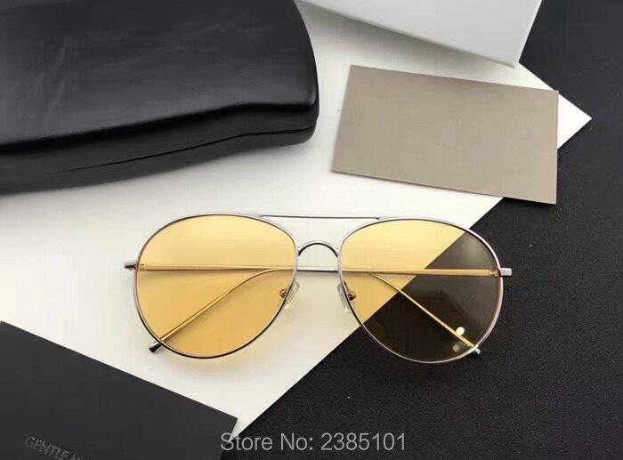 gray Reflektierende Ring Ranny Mehrfarben Vintage Sanft gold Männer silver Sonnenbrille Runde Frauen Metallrahmen Klassische pink Quecksilber Yellow 86gvqwP