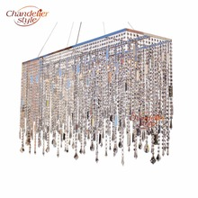 linear crystal chandelier. Chandelierstyle Modern Linear Crystal Chandelier Lighting Rectangular Clear Cristal