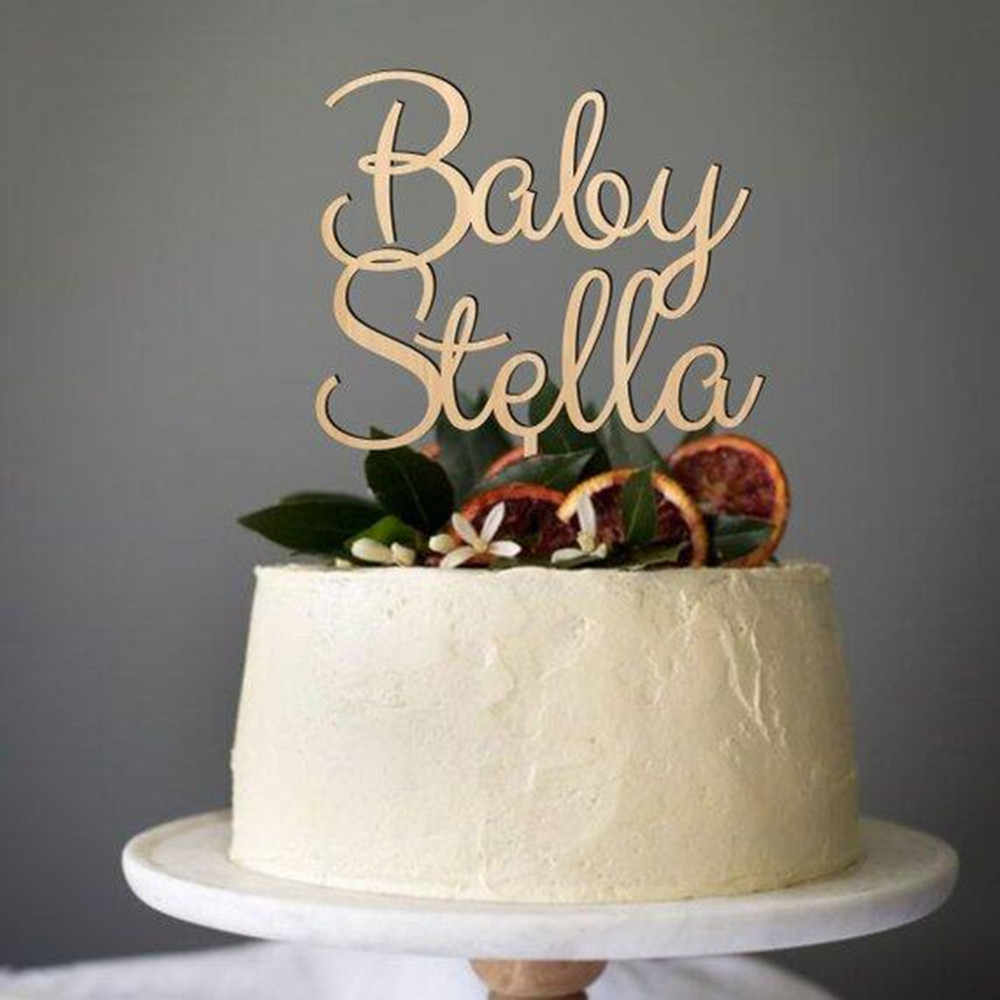 Detail Feedback Questions about Custom Welcome Oh Baby Cake