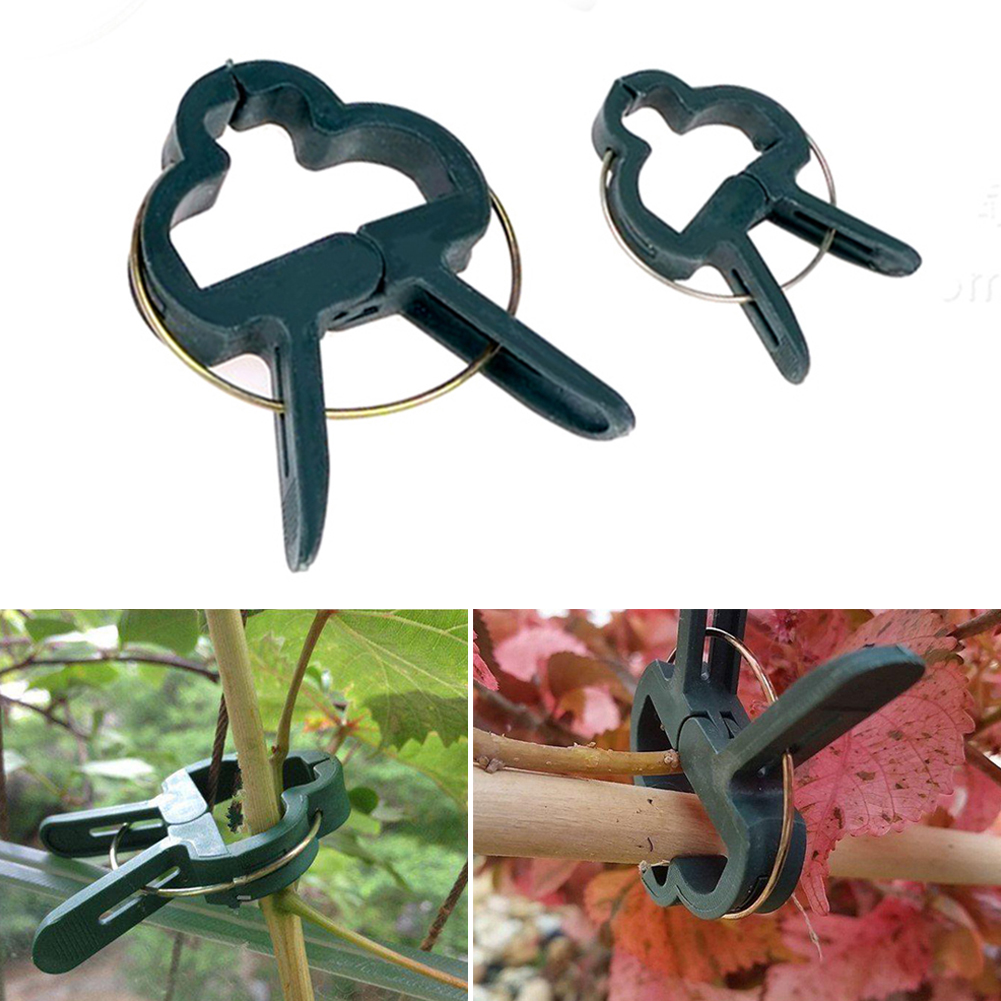 80 Pcs Vegetable Growning Supplies Plastic Fixed Figure Plant Pin Clip Ties For Garden Plant