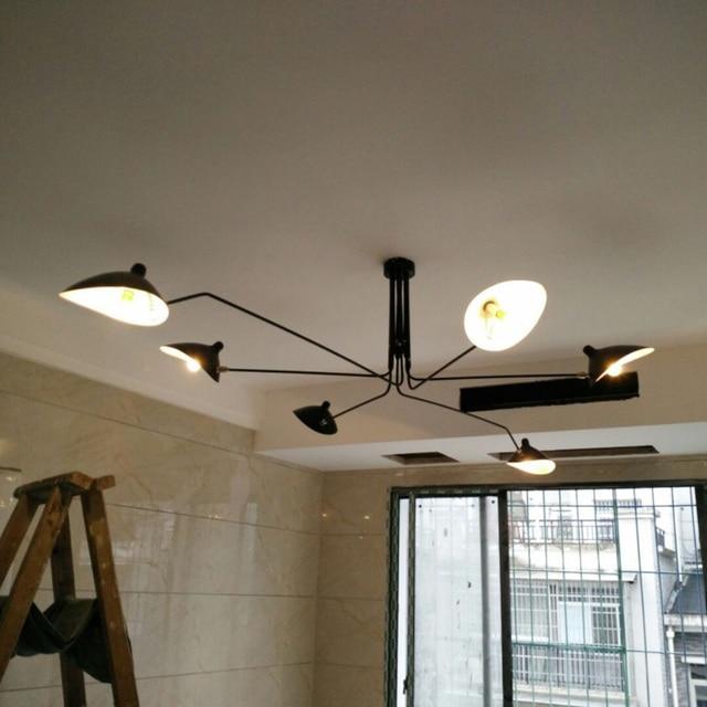 Nordic 3/6 arm klauwen ceiing licht modenr ijzer plafondverlichting ...