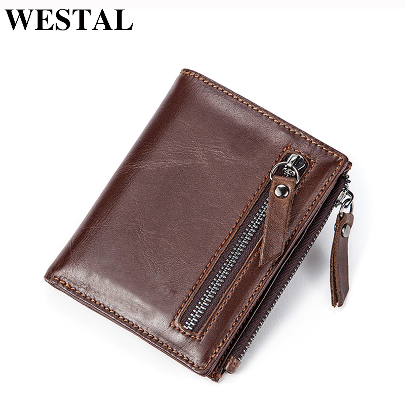MVA Genuine Leather Wallets with Coin Pocket Coin Purse Men Leather Wallet for Credit Ca ...