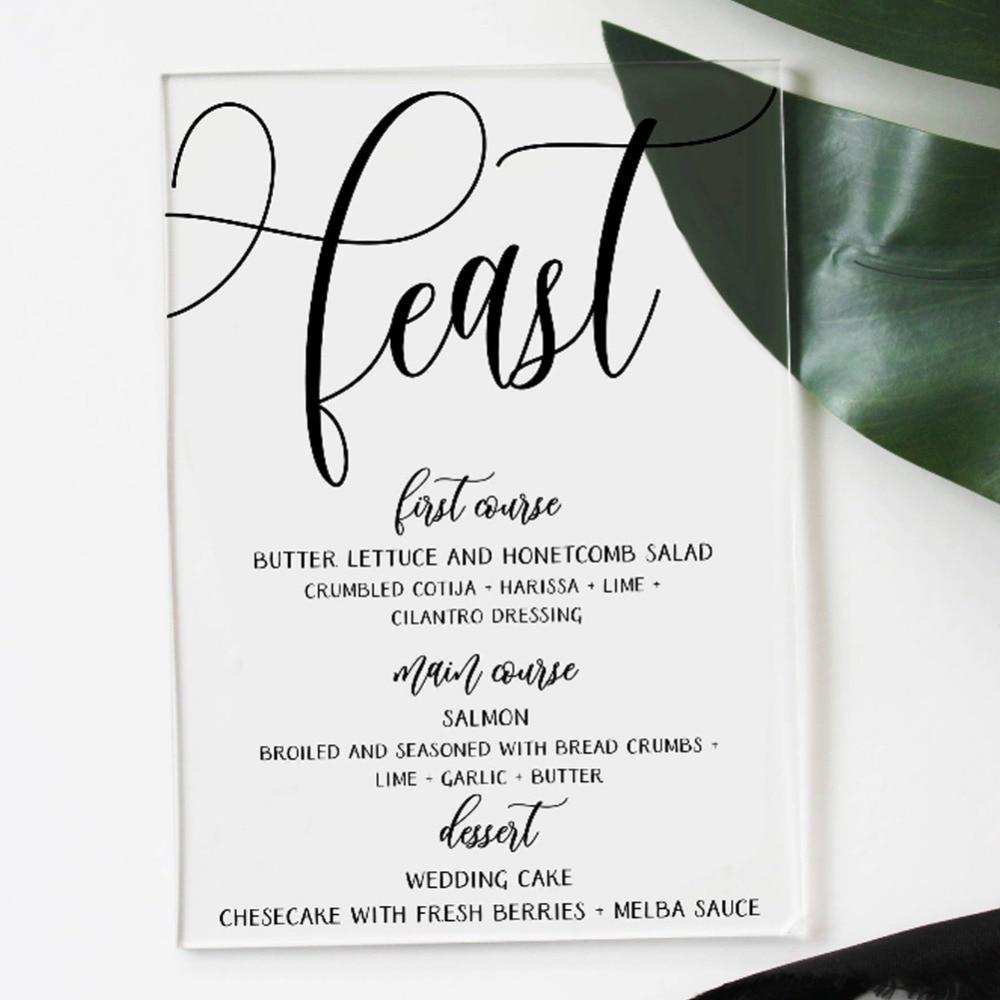 b6821d06b9369 US $32.25 14% OFF|25pcs New Custom Design Acrylic Materials Card Wedding  Menu card Birthday Party decoration Invite card wedding invitation card-in  ...