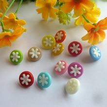50 шт./партия пластиковые пуговицы швейные 14 мм декоративные кнопки DIY наклейки для творчества для детей аксессуары для одежды своими руками материалы