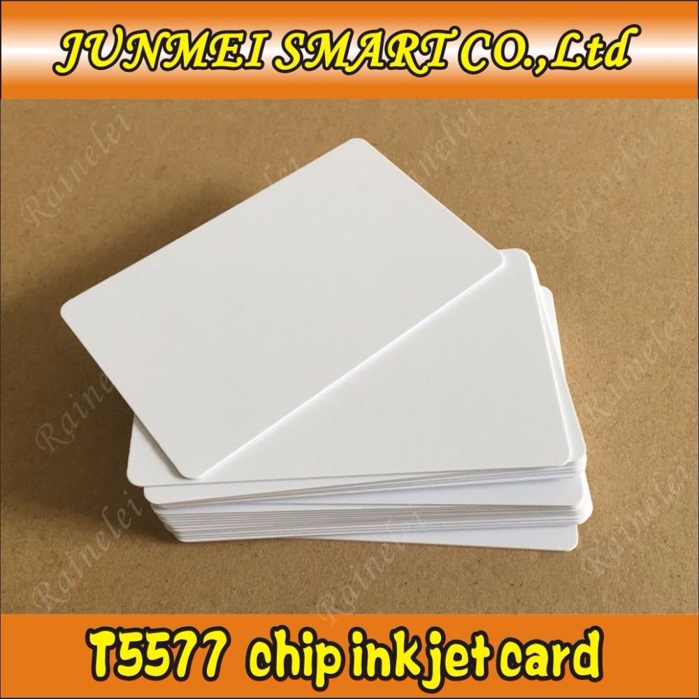 Persevering 100pcs Inkjet T5577 Blank Rewritable Printable 125khz T5577 Rfid Card For Sale