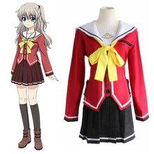 Tomori Nao trajes de cosplay uniforme escolar Japonés anime animación ropa Charlotte (Blazer + Falda + Tie)