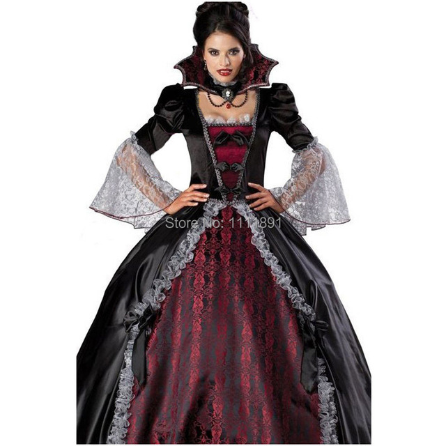 Halloween Costumes Vampire Bride Outfit Cosplay Ladies Girls Fancy