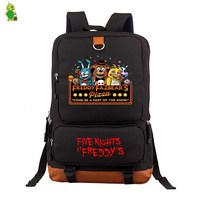 Five Nights At Freddy FNAF women men Backpack Freddy Chica Foxy Bonnie Laptop Backpack for Teenagers Students Large Travel Bags