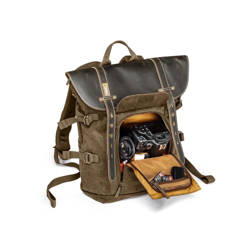 Venta al por mayor de la Colección Nacional Geográfica de África NG A5290 A5280 mochila para ordenador portátil SLR bolsa de lona bolsa de foto de cuero auténtico - 4