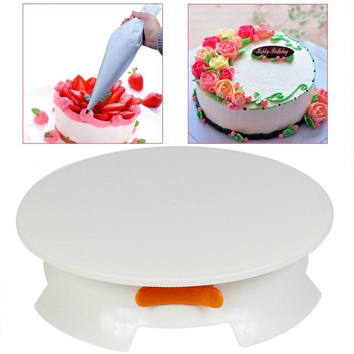Turntables Turntable 12 Inch Cream Decorating Cake 360 Degree Lockable Round Display Revolving Rotating Swivel Plate Stand Platform Diy Cak