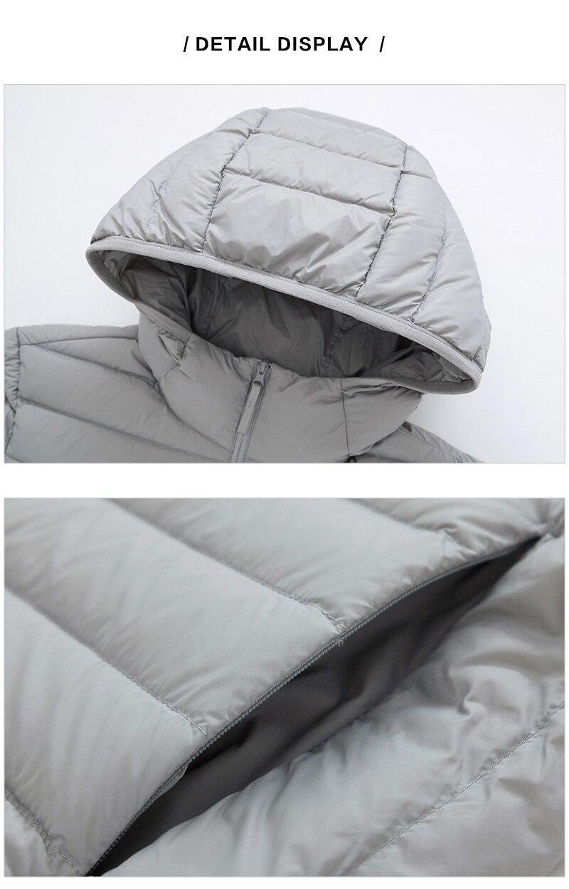 SEMIR brand men down jacket casual fashion winter jacket Down Jacket Men Winter Portability Warm 90% White Duck Down Hooded Man Coat jaqueta