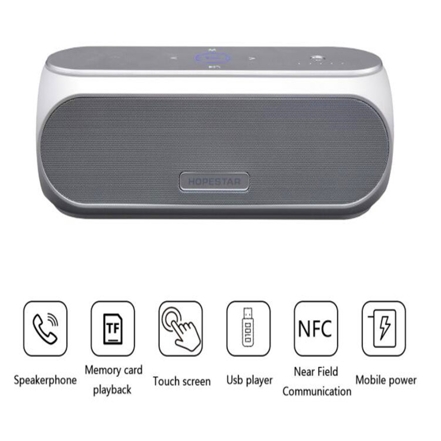 Bluetooth Touch Speakers Boombox 30W Portable High-Power Musical Column Active Acoustic System Bomb Micro System Mp3 Audio usb bluetooth portable active speakers 20w high power music center hifi sound box acoustic system%2