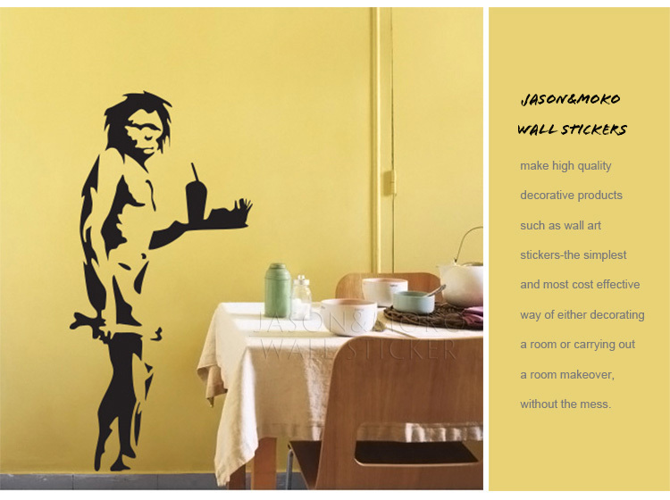 Caveman Takeaway Wall Decal Sticker Interior Vinyl Wall Decal ...