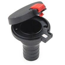 1 Set 38mm Marine ABS Plastic Boat Deck Fill/ Filler Port Gas Fuel Tank With Keyless Cap 1.5 inch
