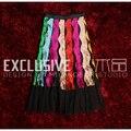 2016 Runway Diseñador Mujer Falda de Tul de Alta Calidad Con Lentejuelas de Color Bordado Novedad Tul Media Falda Svoryxiu
