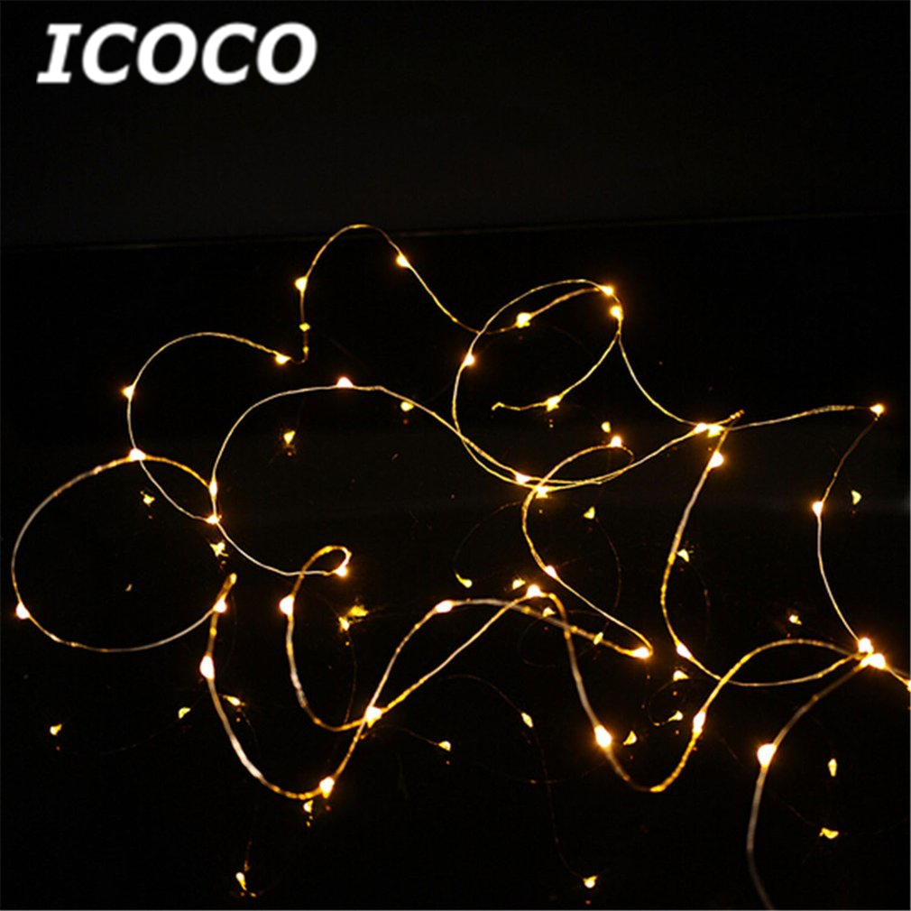 ICOCO 5m/16ft 50 Leds USB LED Copper Wire String Light IP67 Waterproof DIY Holiday Party ...