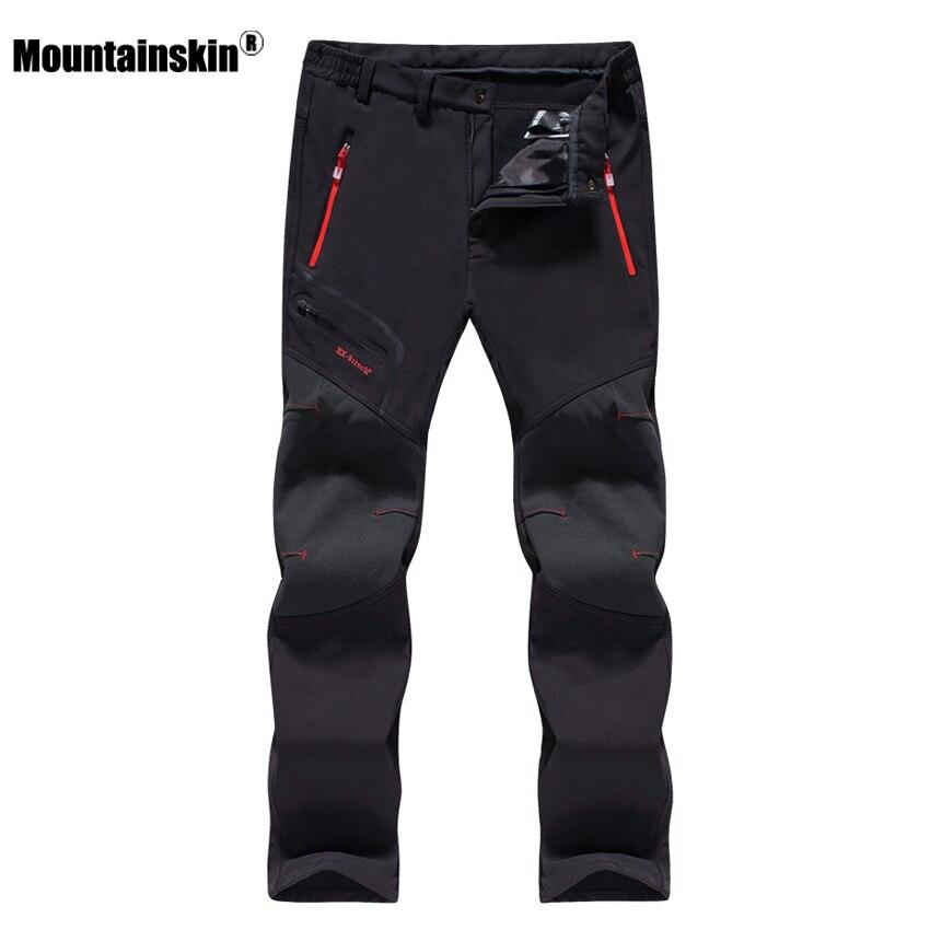 Mountainskin 6XL Men's Softshell Fleece Sports Pants Outdoor Hiking Trekking Camping Fishing Climbing Waterproof Trousers VA195
