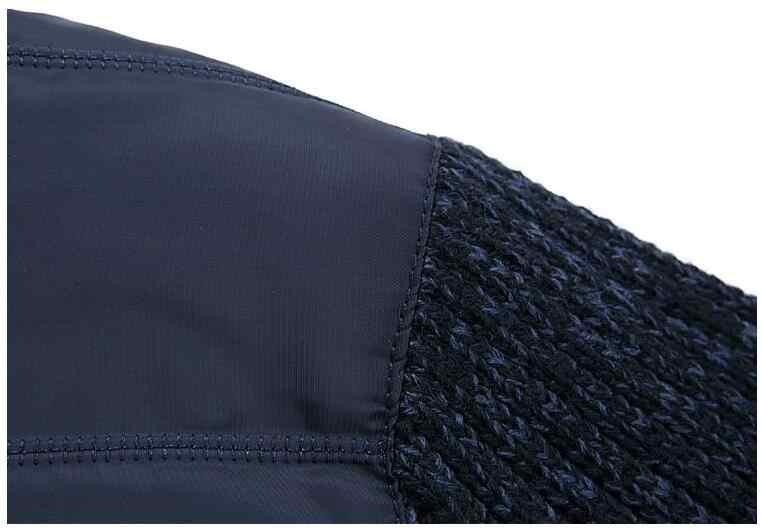 Брендовый мужской свитер 2019 Новое поступление Зимний мужской свитер куртка стоячий воротник военный армейский зеленый кардиган мужской плотный флис