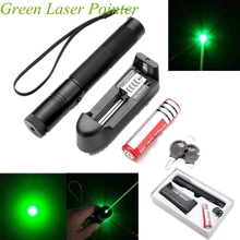Best price Adjustable Focus Burning Green Laser Pointer Pen 301 Continuous Line 5000 to 10000 meters Laser range+Battery+Battery charger
