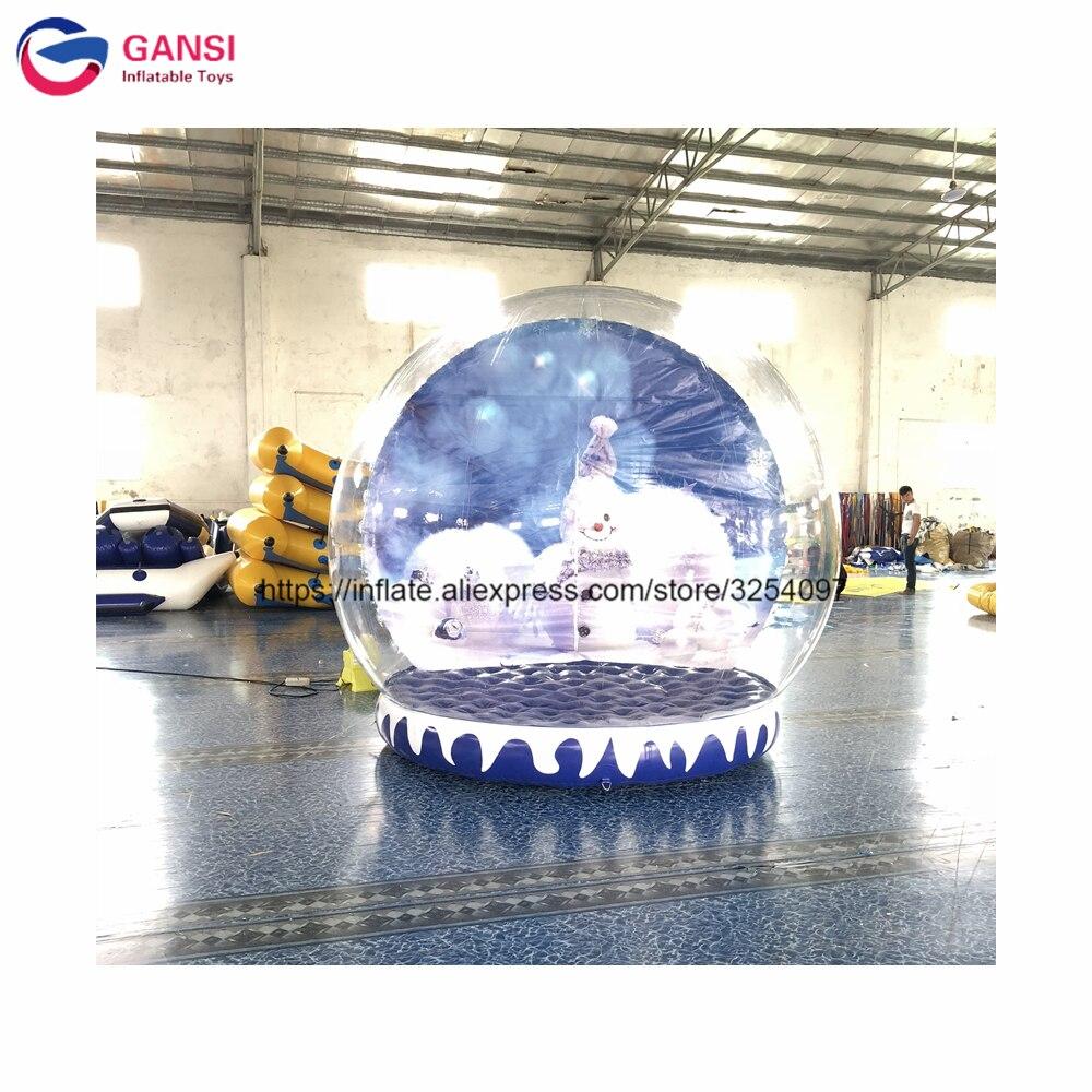 Centre commercial gonflable vide boule de neige enfants jouets gonflables humains boules de neige noël à vendre