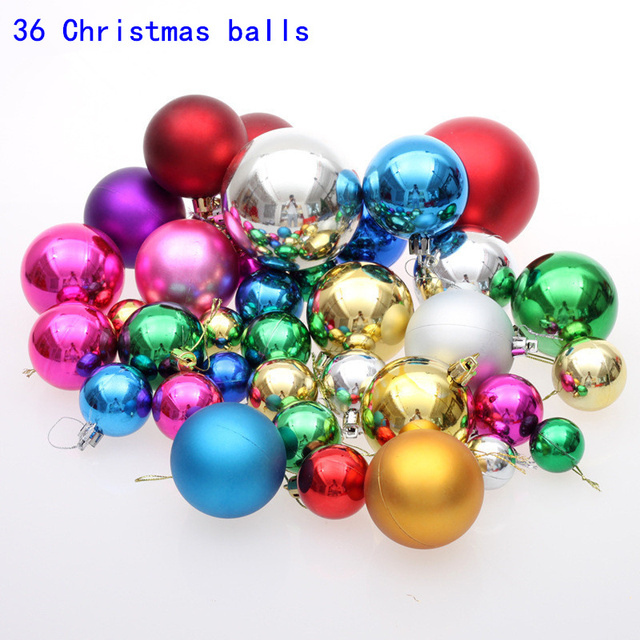 36christmas balls 3 cm 6 cm christmas balls decorate the christmas ball 8 cm plastic christmas - Christmas Ball Decorations