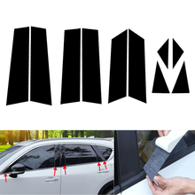 DWCX 10pcs Black Car Door Window Pillar Posts Piano Trim Cover Kit Fit For Mazda CX 5 CX5 2017 2018