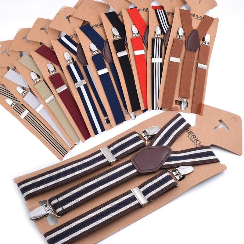 3Clips Men's Suspenders Men Braces Supports Tirantes For Women Elastic Adjustable Pants Straps Clothing 2.5*110cm