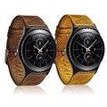 22 мм Ретро Ремень Из Натуральной Кожи для Samsung Gear S3 Часы группа для Передач S3 Классический S3 Границы Металлической Пряжкой Браслет пояс