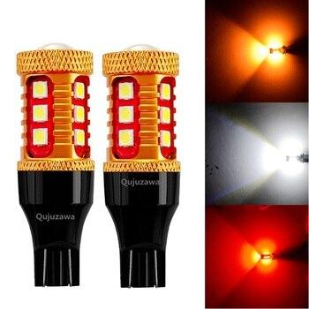 2шт 921 912 T15 W16W WY16W 1000LM 3030 светодиодный Автомобильный задний стоп-сигнал Автомобильный задний светильник задний фонарь поворотники красный белый Янтарный