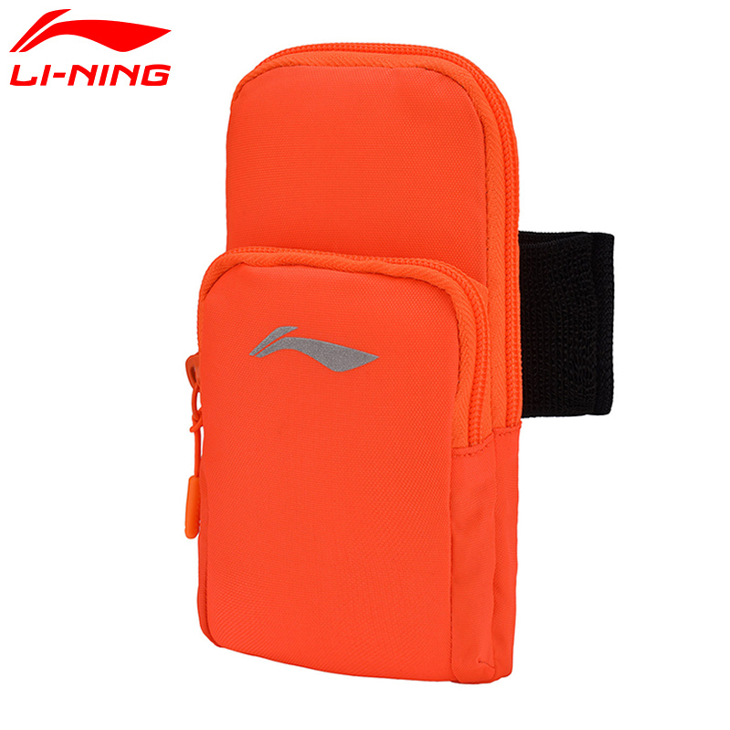 Li-Ning Unisex Running Arm Package Classic Reflective Polyester Men&Women LiNing Li Ning Sports Arm Package Bag ABJM002 BJF114