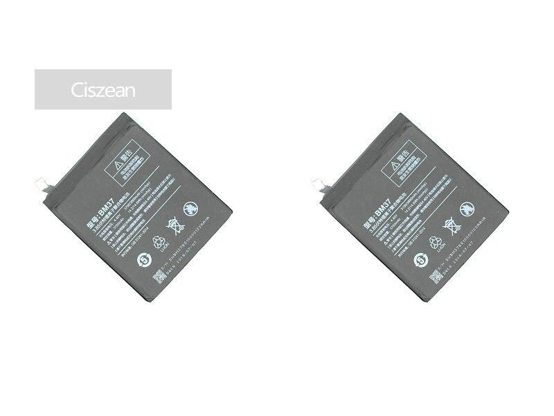 Ciszean Cell-Phone-Battery Xiao Mi Smart 3700mah 5s-Plus For Mi5s Plus-X-2pcs BM37 Mobile