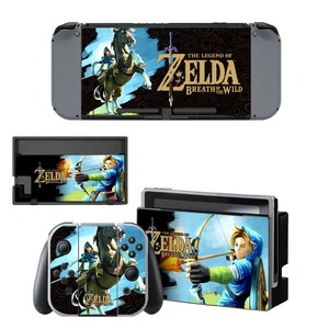 Image 5 - The Legend of Zelda Decal Vinyl Skin Protector Sticker for Nintendo Switch NS Console +Controller + Stand Holder Protective Skin