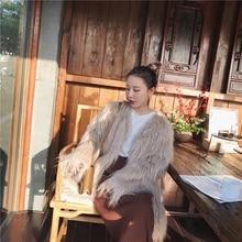 2018 New Style High-end Fashion Women Faux Fur Coat S7