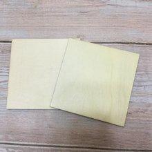 Набор из 50 пустых квадратных подставок натуральной древесины