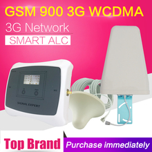 Smart GSM 900 WCDMA 2100 Cell Phone Signal Booster GSM 900mhz 3G WCDMA 2100mhz Dual Band Cellular Amplifier Repeater Antenna