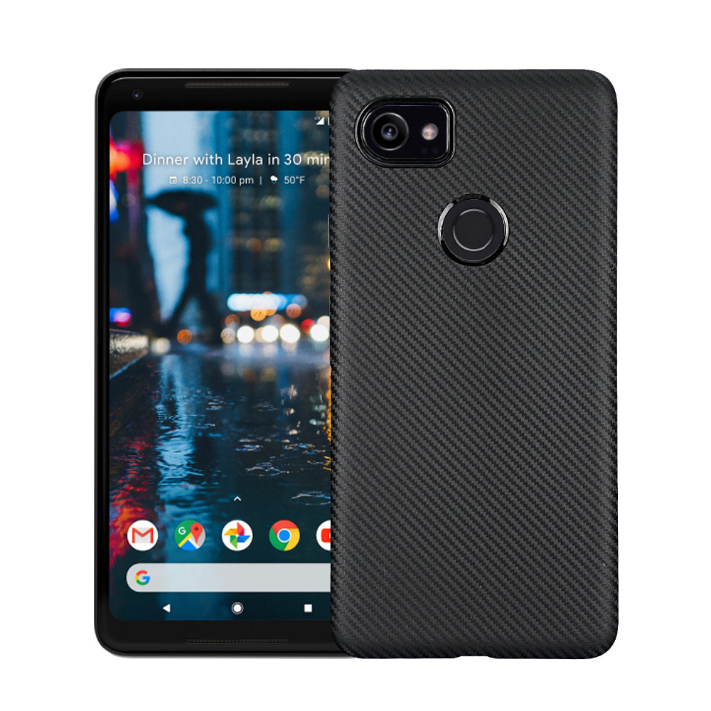 1Pcs/Lot Carbon Fibre Soft TPU Cover Case For Google Pixel 2 XL / Pixel 2