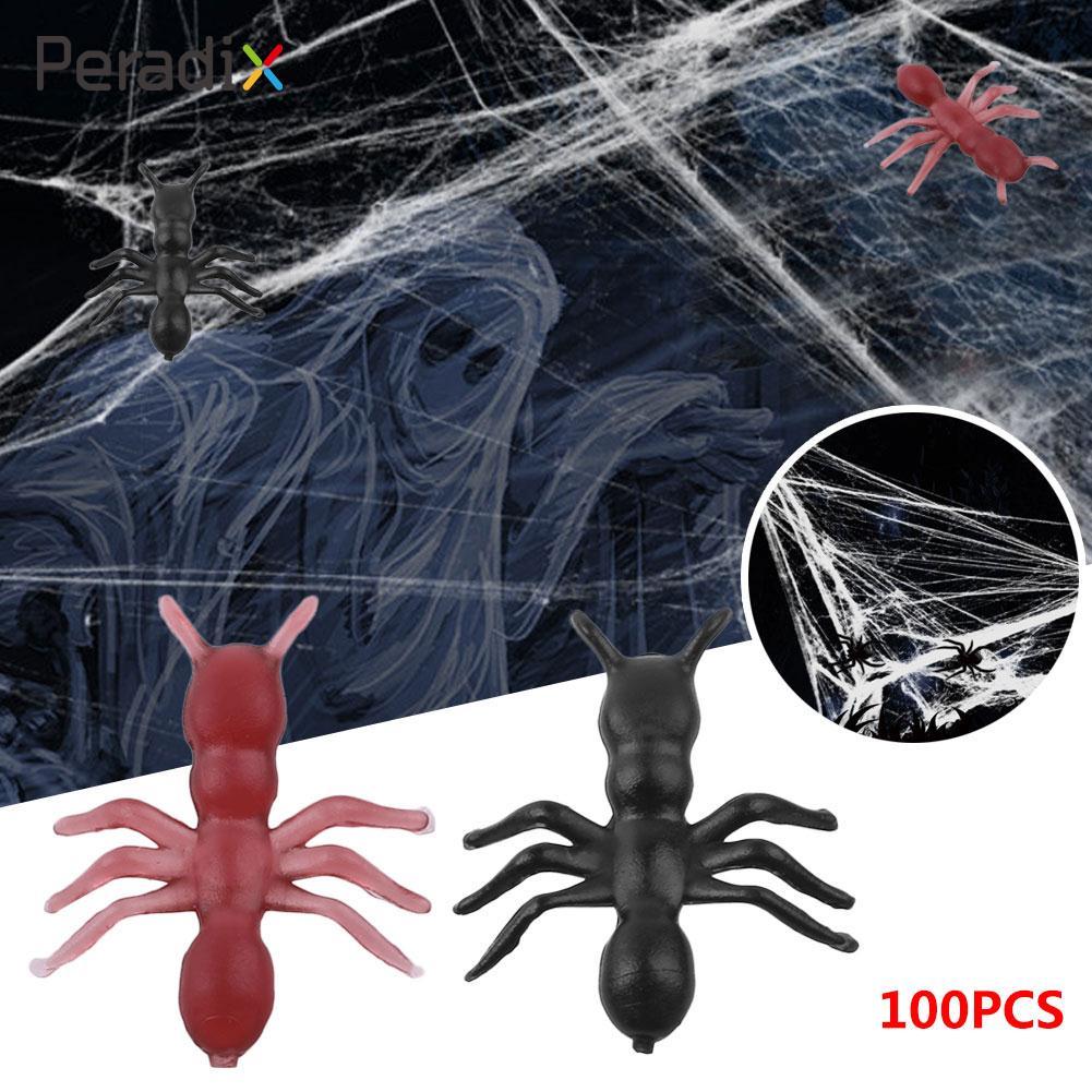 100Pcs/Bag Mini Plastic Ant Toys Halloween Party Tricky Kids Game Black/Brown