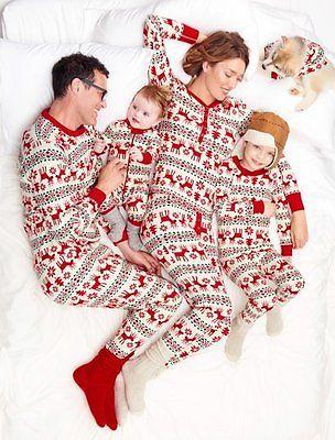 Мана папа взрослых женщин мужчины зима теплая одежда Семейные Рождественские Пижамы Набор Олень Печати С Длинным Рукавом Пижамы Пижамы Костюмы