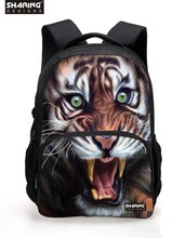 Cool 3D Animal White Tiger Head Backpack for Men Unique Youth Backbag Children Teenager Boys Tourism Backpack Cool Tiger Face