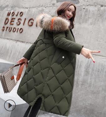 Winter Jacket Women Coat   Parka   Outerwear Down Jacket Female Long Jacket 2018 NEW Fake Fur Collar Warm Slim fashion Clothing